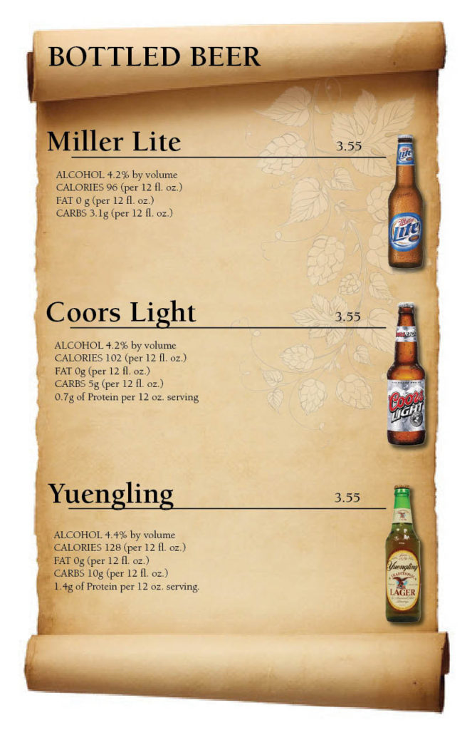 Vic's Bottled Beer